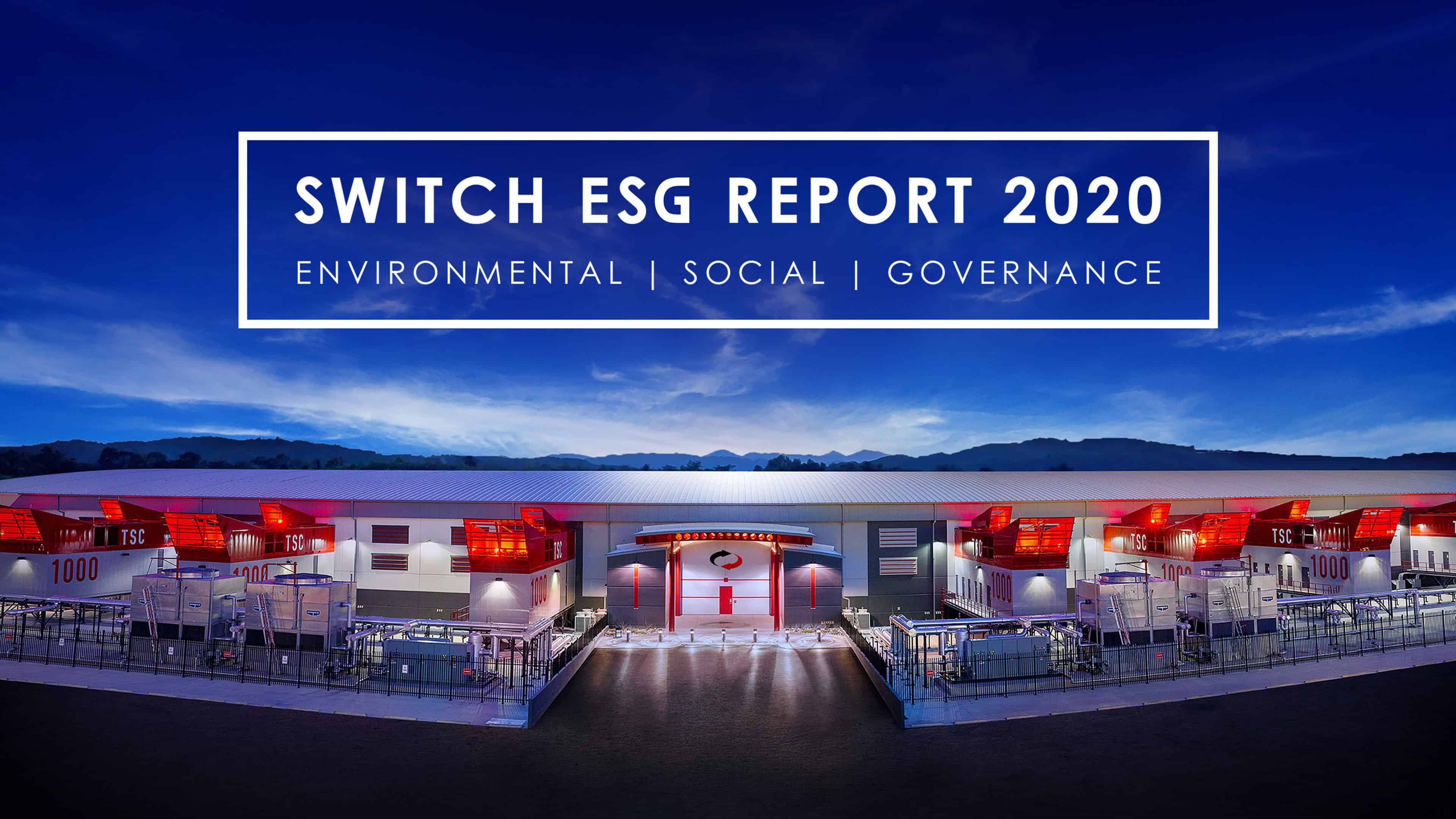 Switch Issues Annual Environmental, Social and Governance Report
